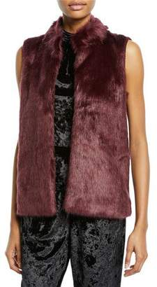 MICHAEL Michael Kors Sweater-Back Faux-Fur Vest