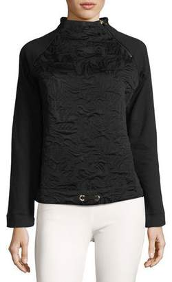 Bogner Sport Smina Mock-Neck Jacquard Pullover Sweater