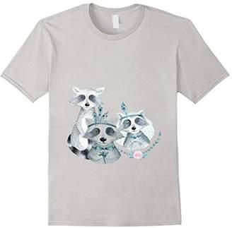 Raccoon Boho Flower Trending T-Shirt