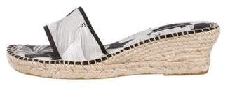 Burberry Floral Espadrille Wedges
