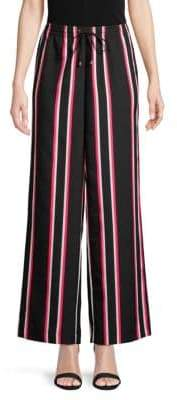 Calvin Klein Striped Wide-Leg Pants