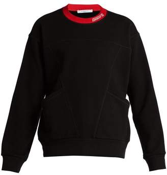 Givenchy Logo Embroidered Cotton Sweatshirt - Mens - Black