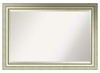 "Amanti Art Wall Mirror Extra Large (41"" x 29"") Vegas Burnished Silver"