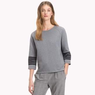 Tommy Hilfiger Stripe Sleeve Sweatshirt