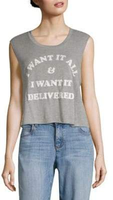 Wildfox Couture Graphic Crop Top