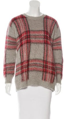 Sandro Knit Plaid Sweater $85 thestylecure.com