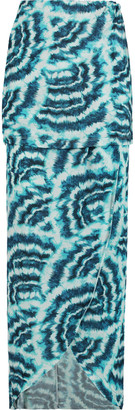 Vix Vilma printed stretch satin-jersey maxi skirt $186 thestylecure.com