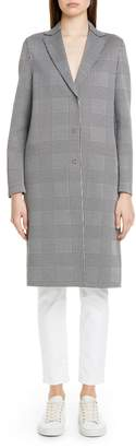 Harris Wharf London Prince of Wales Cotton Blend Coat