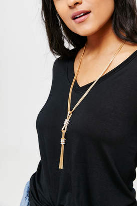 Ardene Long Layered Chain Necklace
