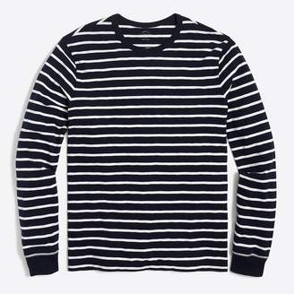 J.Crew Long-sleeve deck-striped textured cotton T-shirt