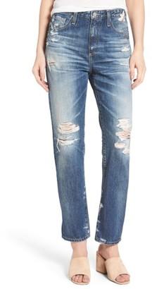 Women's Ag The Phoebe High Waist Straight Leg Jeans $298 thestylecure.com