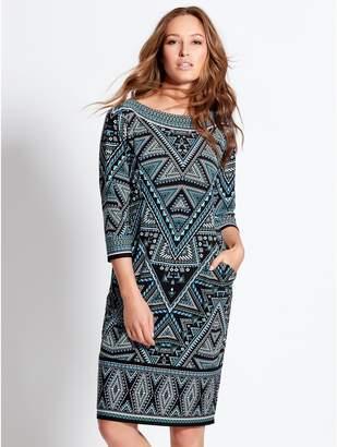 Knee Length Shift Dress - ShopStyle UK faa604b13