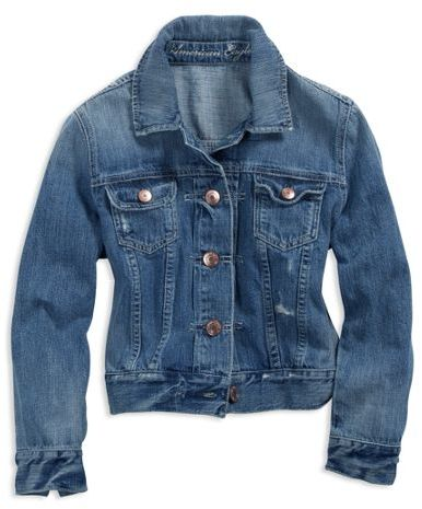 AE Cropped Denim Jacket