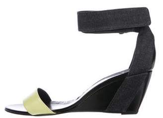 Pierre Hardy Leather Ankle Strap Wedges