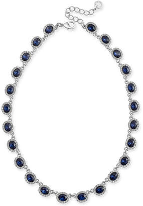 """Charter Club Crystal Collar Necklace, 17"""" + 2"""" extender"""