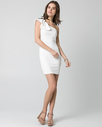 Le Château Textured Knit One Shoulder Dress