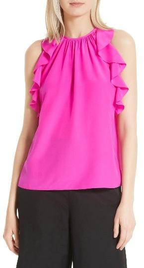 Women's Kate Spade New York Ruffle Silk Top
