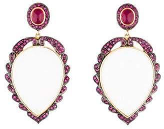 Angélique de Paris White Onyx Earrings