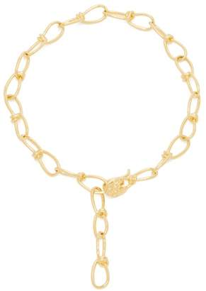 Misho - Leo Gold Plated Chain Link Necklace - Womens - Gold