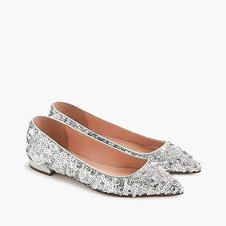 J.Crew Pointed-toe flats in sequin