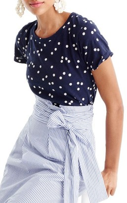 Women's J.crew Cluster Dot Tee $32.50 thestylecure.com