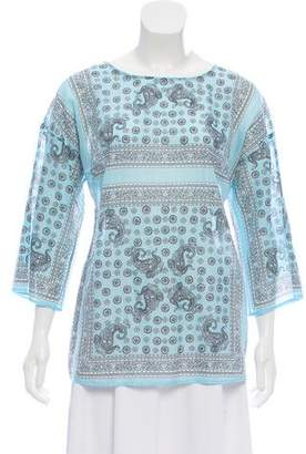 Dolce & Gabbana Printed Three-Quarter Sleeve Top