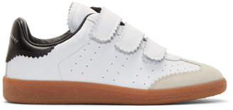 Isabel Marant White Beth Vintage Velcro Sneakers