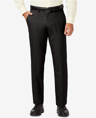 Haggar J.m. Sharkskin Straight Fit Flat Front Flex Waistband Dress Pants