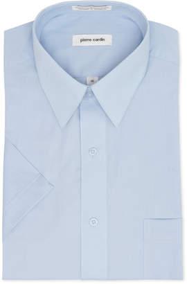 Pierre Cardin Short Sleeve Blue Dress Shirt