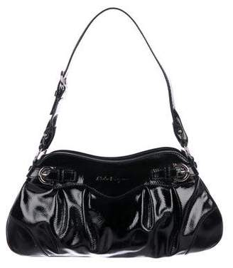 Salvatore Ferragamo Black Leather Hobo Bags - ShopStyle 8221cf1e1e00a