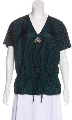 Figue Silk Printed Top
