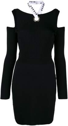 Versus open shoulder fitted dress