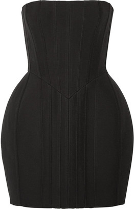 Balmain - Strapless Pintucked Crepe Mini Dress - Black $6,265 thestylecure.com