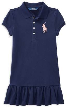Polo Ralph Lauren Girls' Ruffled Shirt Dress - Little Kid