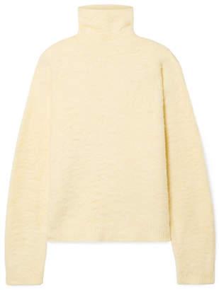 Acne Studios Kristel Cotton-blend Turtleneck Sweater - Pastel yellow