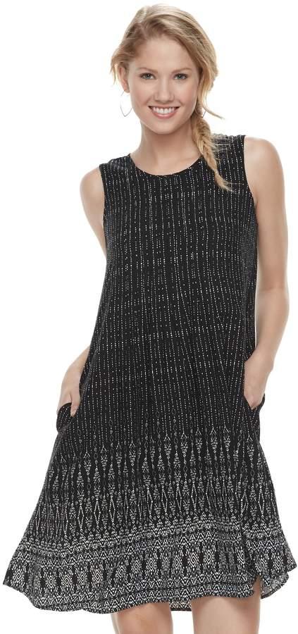 Sonoma Goods For Life Women's SONOMA Goods for Life Pintuck Challis Shift Dress