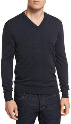 Tom Ford Merino Wool V-Neck Sweater, Navy