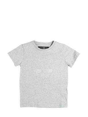 Hydrogen Kid Skull Embossed Cotton Jersey T-Shirt