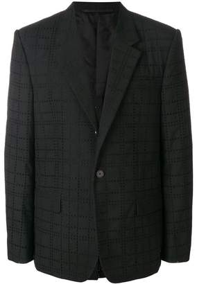 Givenchy eyelet check blazer