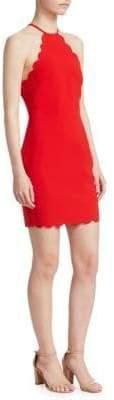 Everly Scalloped Mini Dress