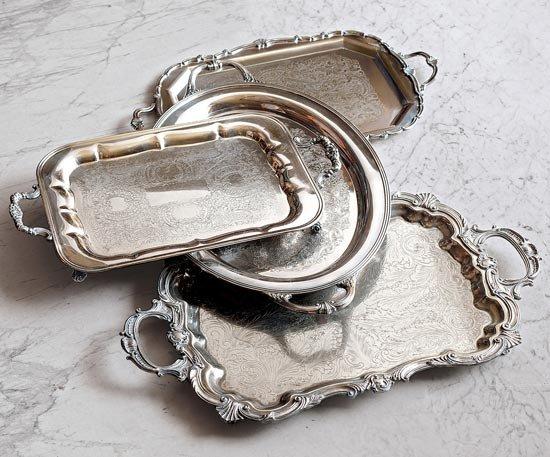 Vintage Silver Butler Trays