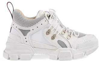 f83be9b76 Gucci White Leather Sneakers - ShopStyle