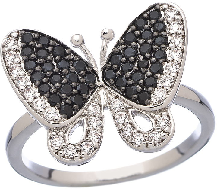 JG Max and Chloe CZ Butterfly Ring
