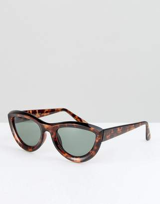 Reclaimed Vintage Inspired Cat Eye Sunglasses In Tort
