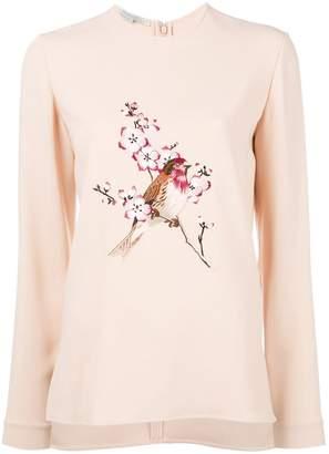 Stella McCartney bird embroidered sweatshirt