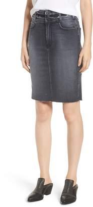 Hudson Jeans Helena High Waist Denim Pencil Skirt