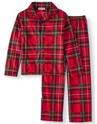 Komar Kids Boy's Holiday Plaid Button Front 2-piece Pajama Sleep Set (Little Boys & Big Boys)