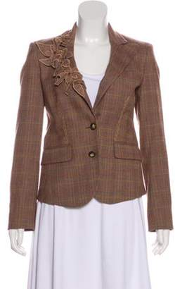 Etro Lightweight Wool Blazer Brown Lightweight Wool Blazer
