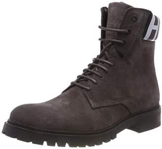 HUGO Men's Explore_halb_wxsd Combat Boots, (Dark Grey 021)