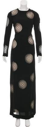 Diane von Furstenberg Long Sleeve Maxi Dress